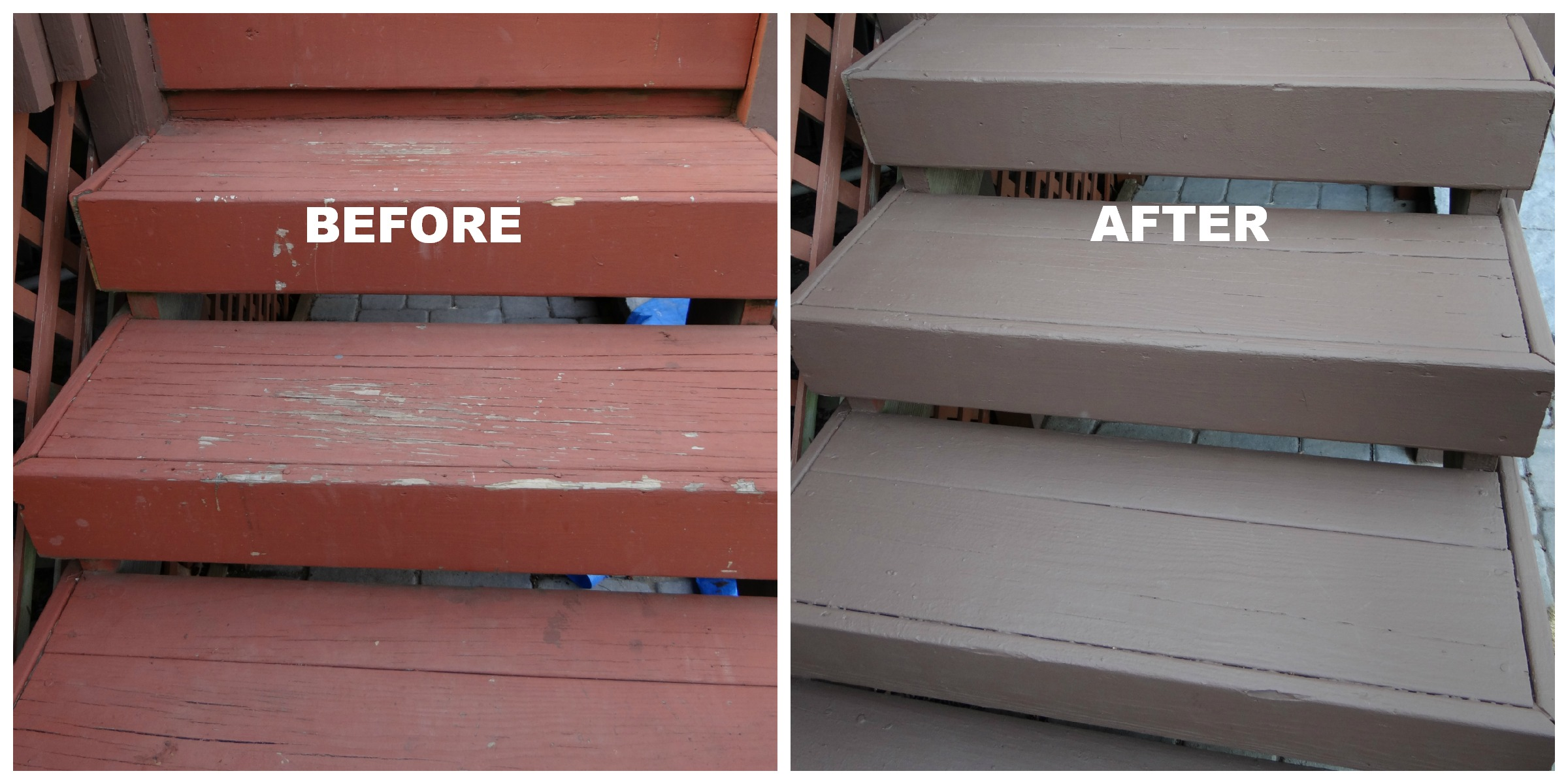 Behr's Deck Over paint is a good buy! The color we chose is Padre ...