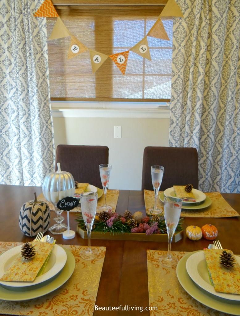 Elegant Fall Tablescape Beauteeful Living