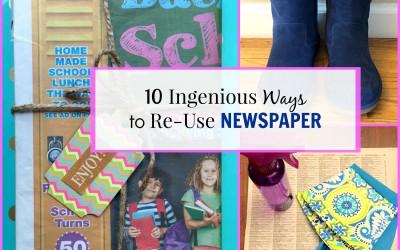 10 Ingenious Ways to Reuse Newspaper