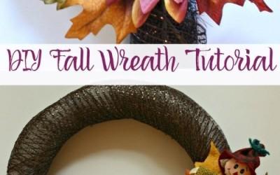 DIY Fall Wreath Tutorial By Momma Lew