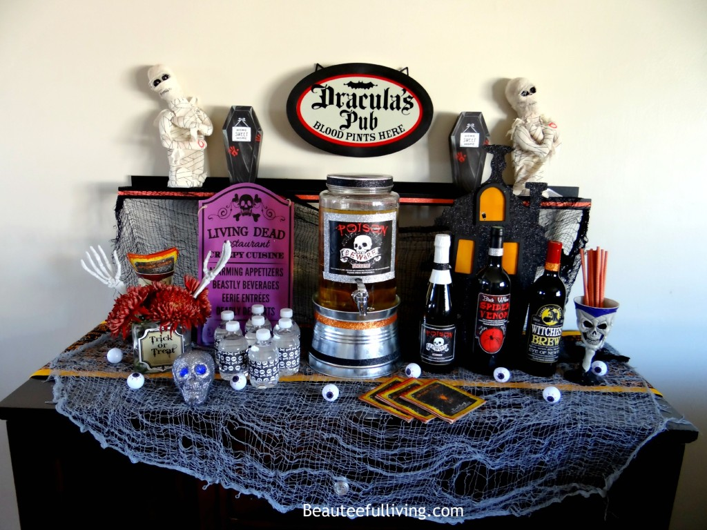 Halloween spooky bar - Beauteeful Living