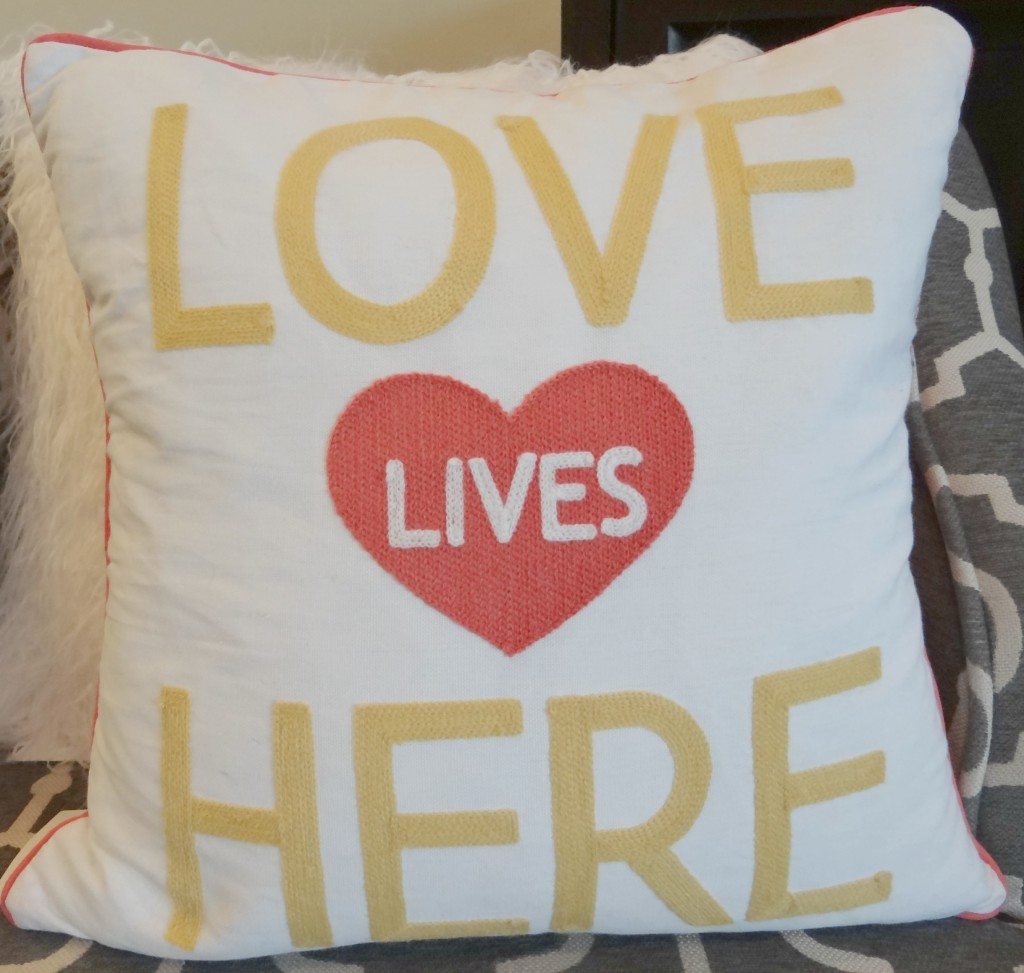 Throw Pillows At Tj Maxx : Beautiful Valentines Decor on $50 Budget