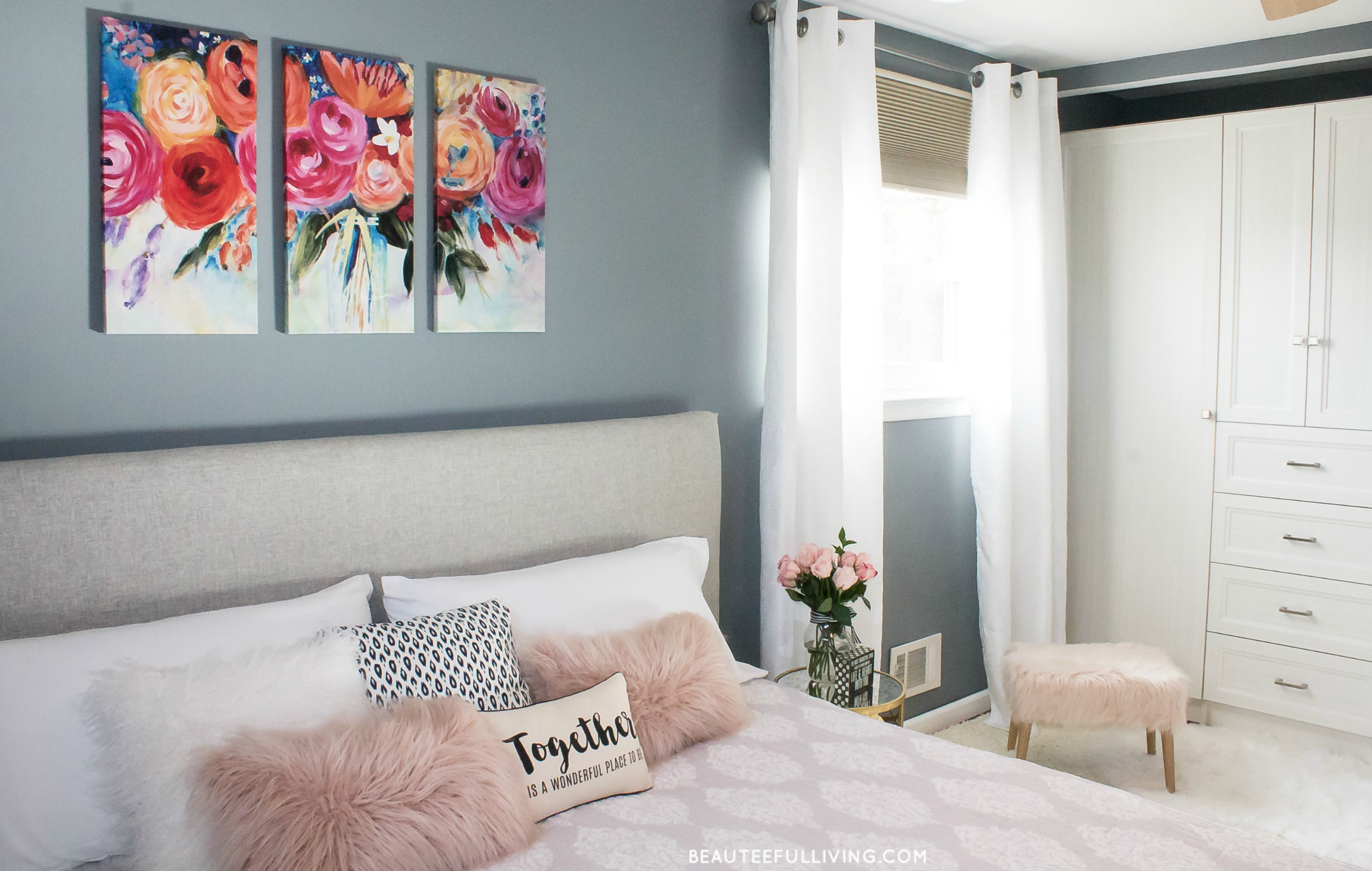 Modern Glam Master Bedroom Reveal Beauteeful Living