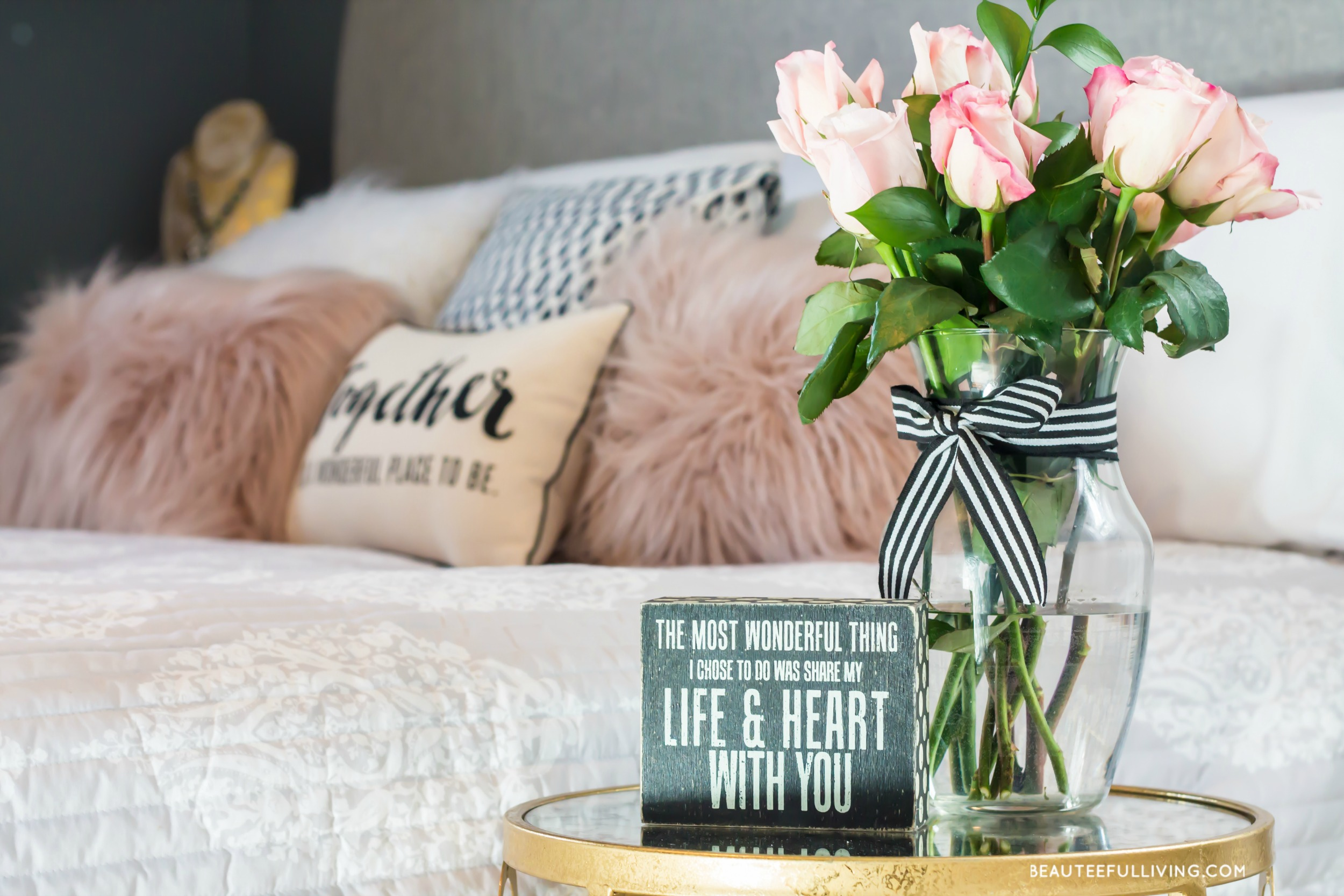 Modern Glam Master Bedroom Reveal Beauteeful Living BEAUTEEFUL - Modern glam bedroom
